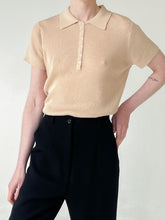 Load image into Gallery viewer, Ecru Linen Ribbed Knit Top (L)