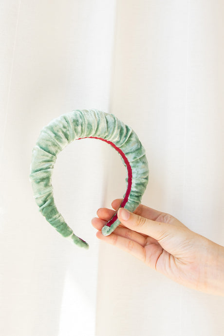 No Wallflower Project | Sage Ruffle Headband