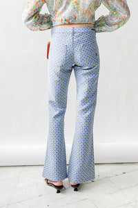 Geometric Flower Print Baby Flare Pants (S)