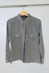 Striped Relaxed Blouse (M)