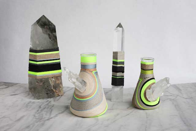Mineral Bottles and Obelisks