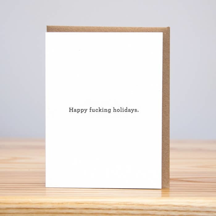 Happy Fucking Holidays - Letterpress