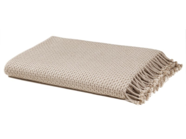 Honeycomb 4 ply Cashmere Throw