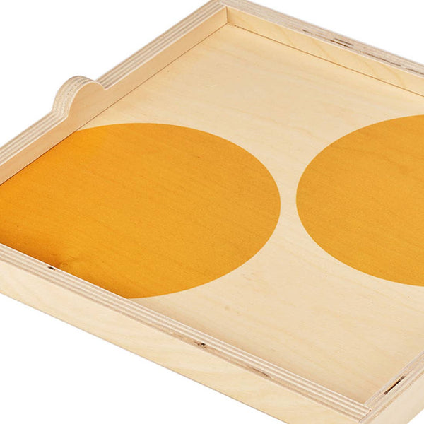 Yellow Dot Square Tray