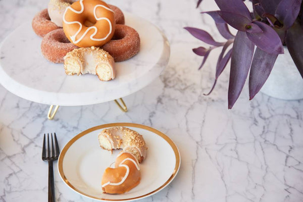Torta Cake Stand | Carrara Marble and Gold