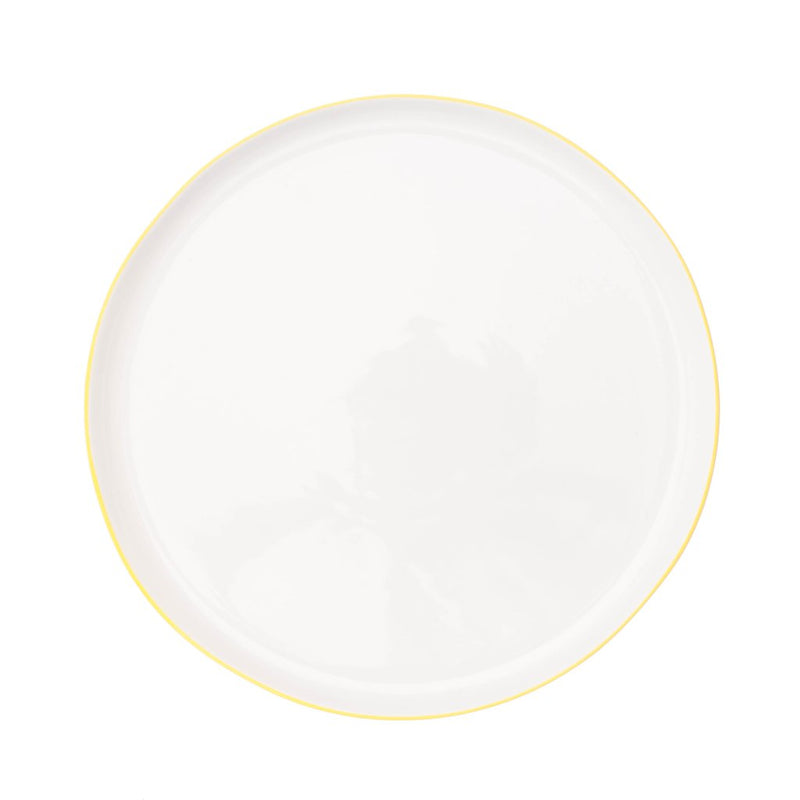 Abbesses Plate Large-Yellow