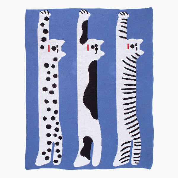 Cool Cats Mini Blanket - Art by Sujin Kim