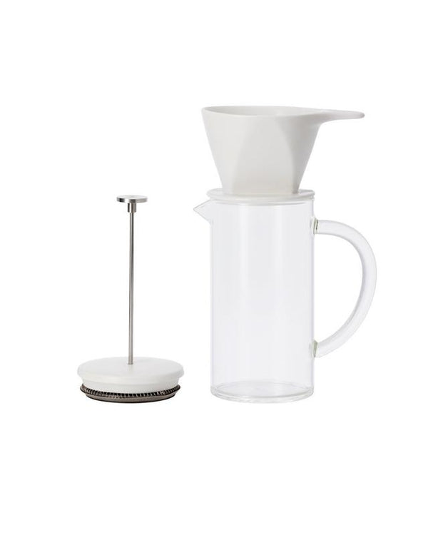 W&P Pour Over Coffee Press White