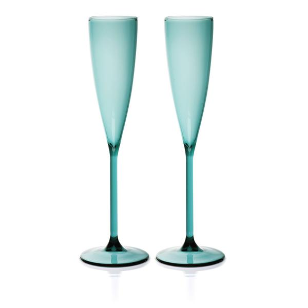 Set of 2 Flutes Teal