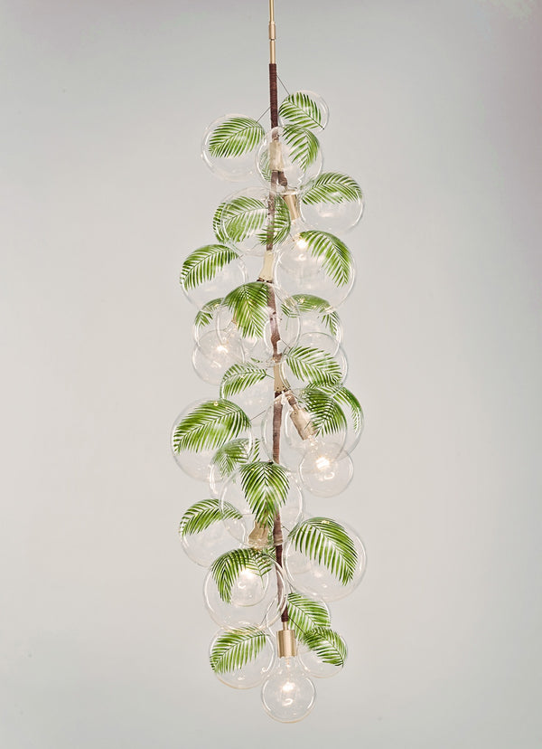 X-Tall Palm Bubble Chandelier
