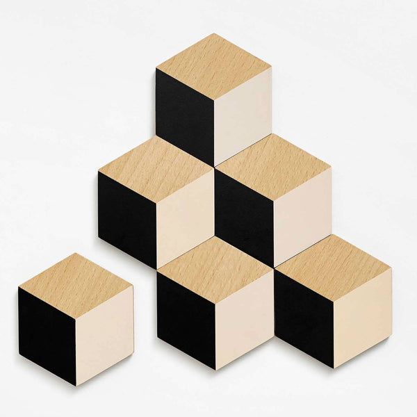 Bower Table Tiles Black and Beige