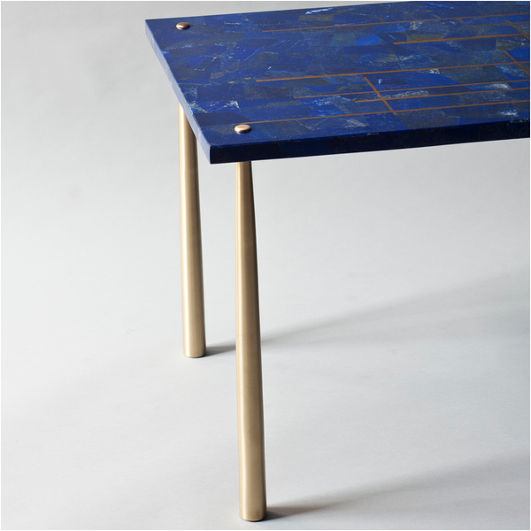 Azure Center Table in Lapis Lazuli