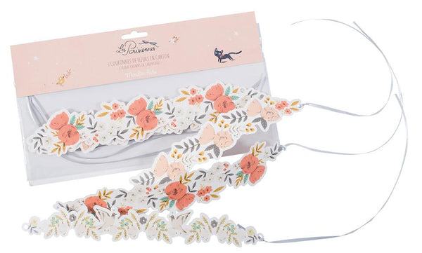 Le Parisiennes Floral Crowns Set of 6
