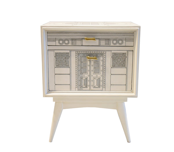 Pair of Italian Nightstands in the Manner of Fornasetti