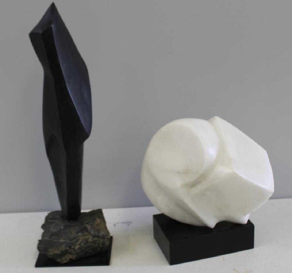 Black Marble Sculpture Signed by E. Gross