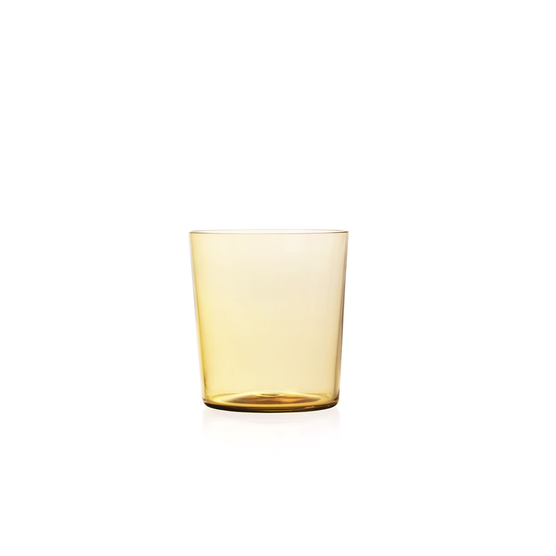 Small Apollo Tumbler in Amber Yellow | Set of 4
