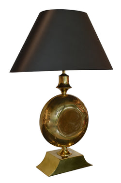 Large Modernist Brass Table Lamp