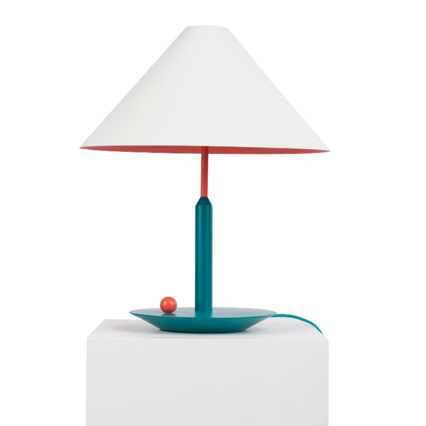 Little Eliah Table Lamp Orange Flamingo/Green Peacock