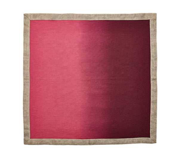Dip Dye Napkin in Berry & Plum