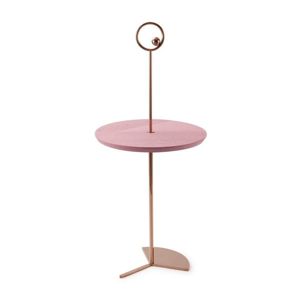 Off The Moon Sidetable Copper W/Dusty Matte/Pink Tray