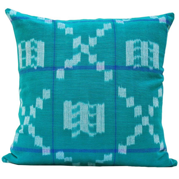Kufri Takamaka Pillow -  Teal & Blue