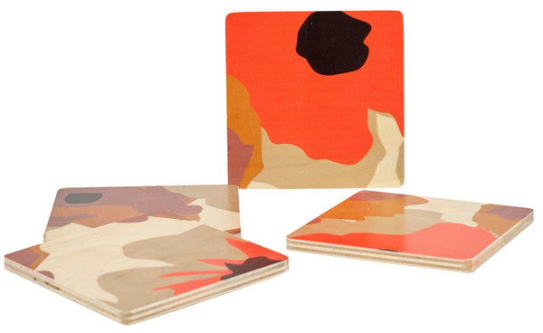 Poppy Square Coasters