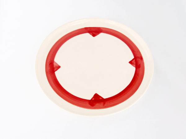 Compass Plate Red | 10""