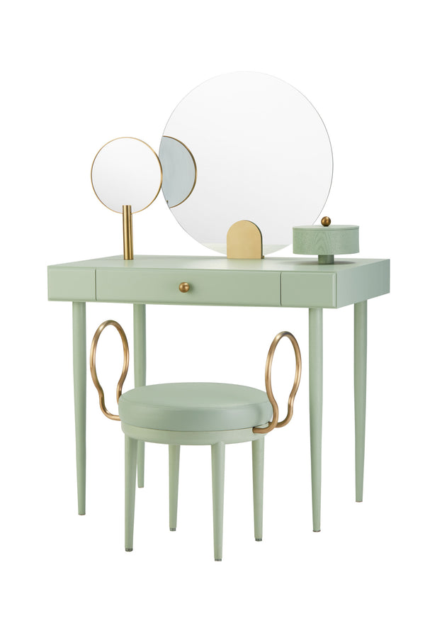 Rose Selavy Vanity Desk and Stool Green Celadon