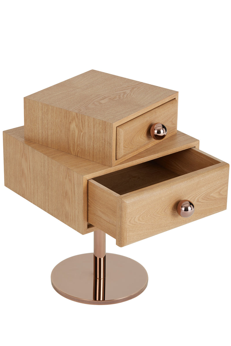 Stand By Me Side Table in Wood Finish