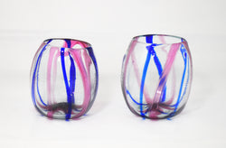 Oval Short Tumbler Root Purple & Blue