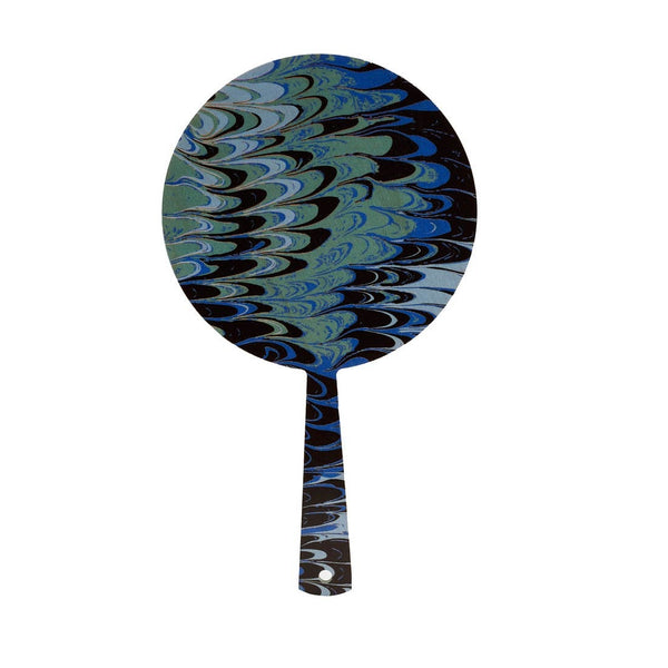 Teal Marble Hand Mirror