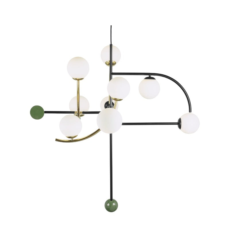 Utu Helio Lacquered Metal & Brass Light Fixture