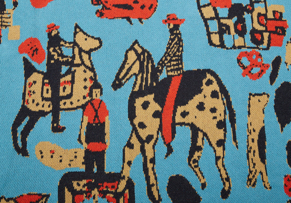 Child Cowboys Turquoise Blanket
