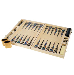 Poppy Teal Tabletop Backgammon Set