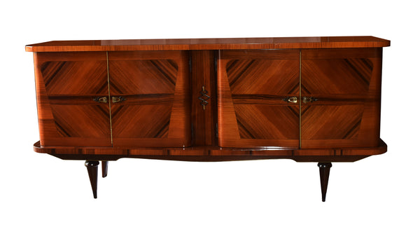 French Four Door Rosewood Sideboard, 1950s