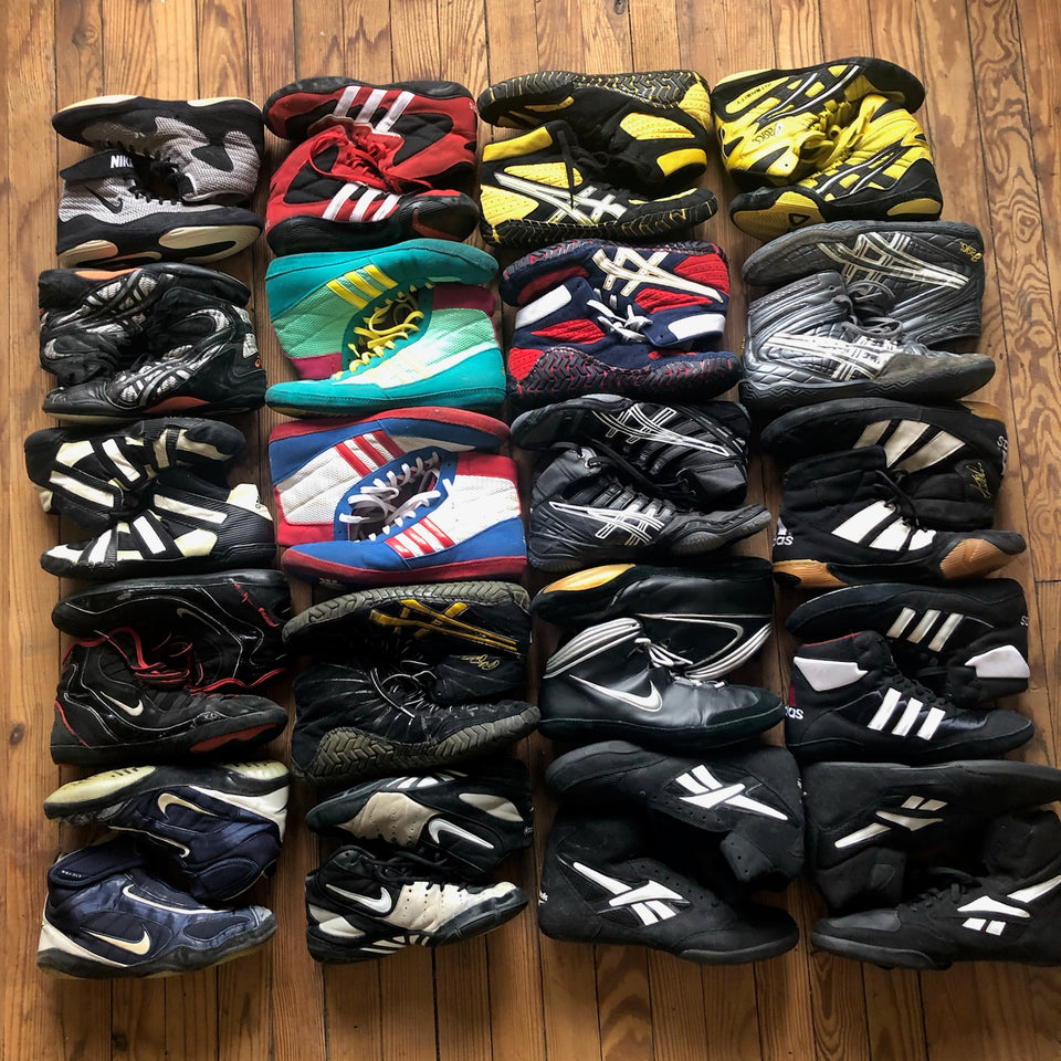 rare wrestling shoe collection