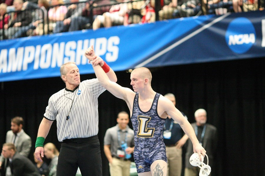 Nolan Barger at the NCAA wrestling championships