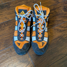 Load image into Gallery viewer, Adidas Orange, White, and Black G-Response Wrestling Shoes