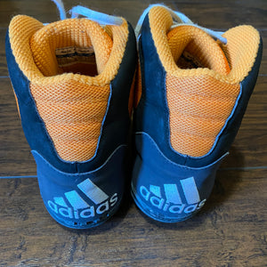 Adidas Orange, White, and Black G-Response Wrestling Shoes
