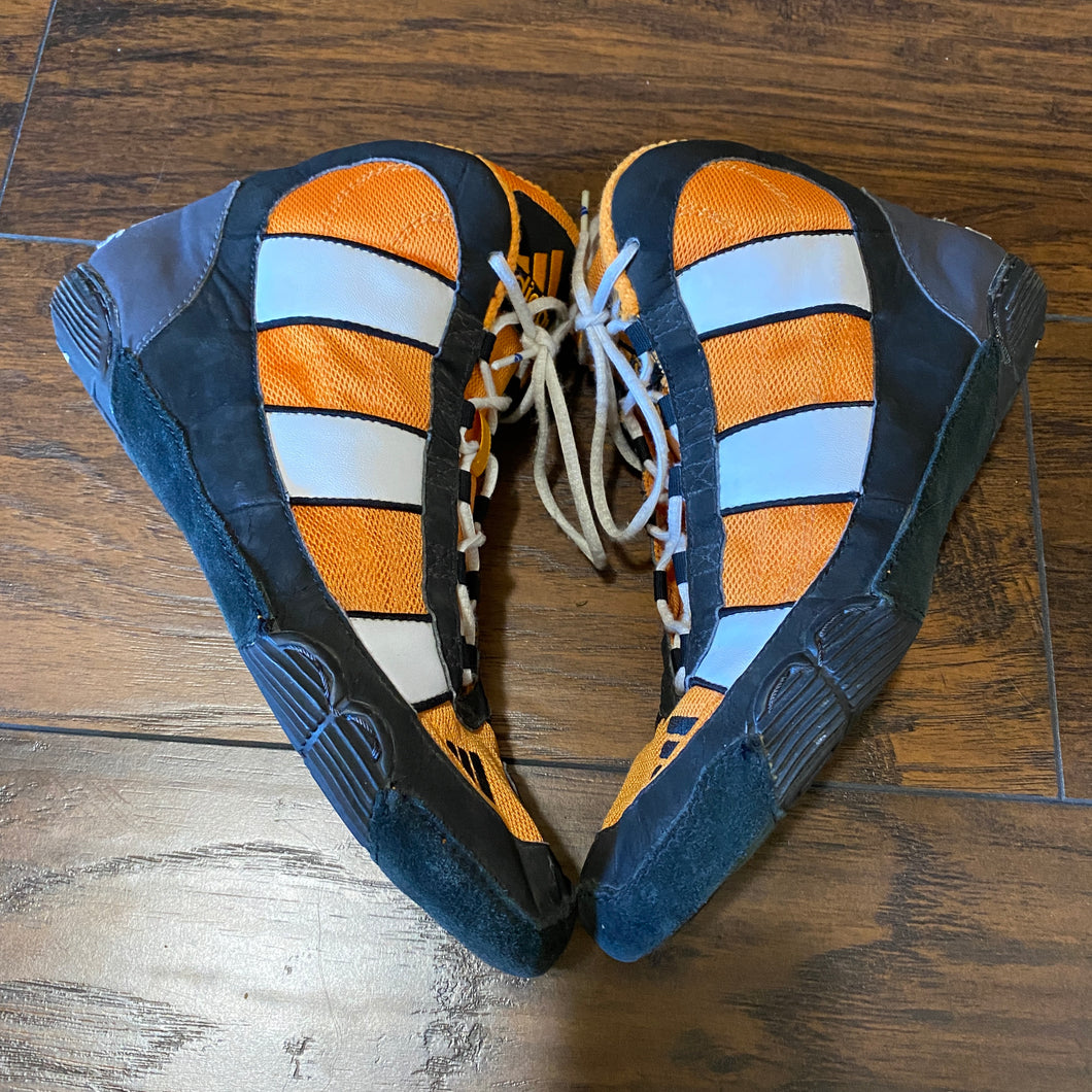 orange and black adidas g response wrestling shoes