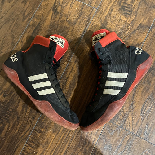 original adidas combat speed wrestling shoes red and black