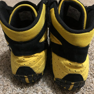 Yellow Asics Aggressor Wrestling Shoes