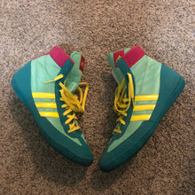 Load image into Gallery viewer, Teal Adidas Combat Speed 4 Wrestling Shoes