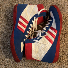 Load image into Gallery viewer, RWB Adidas Combat Speed 4 Wrestling Shoes