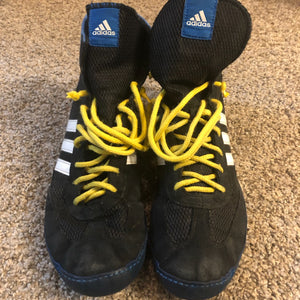 Adidas Blue Combat Speed 4 Wrestling Shoes
