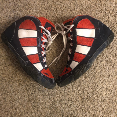 Adidas Red, White, and Blue G-Response Wrestling Shoes
