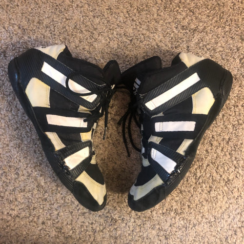 gold adidas grappler wrestling shoes
