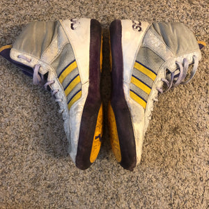 Purple & Yellow Adidas Elite International Wrestling Shoes