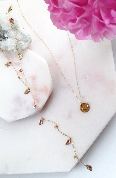Spring luxe dainty gold necklaces