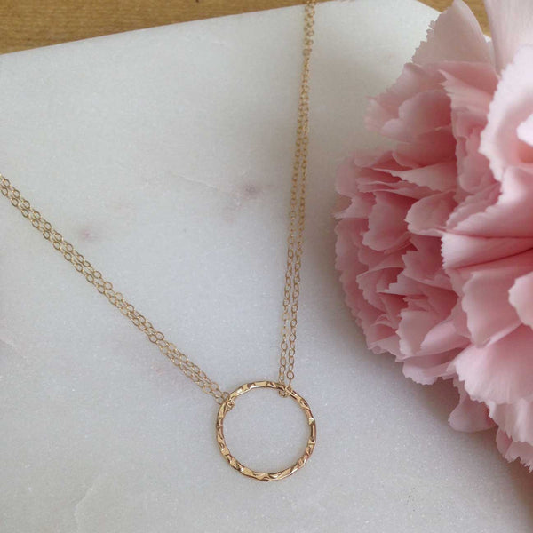 MOVV - dainty gold-fill O-ring layering necklace